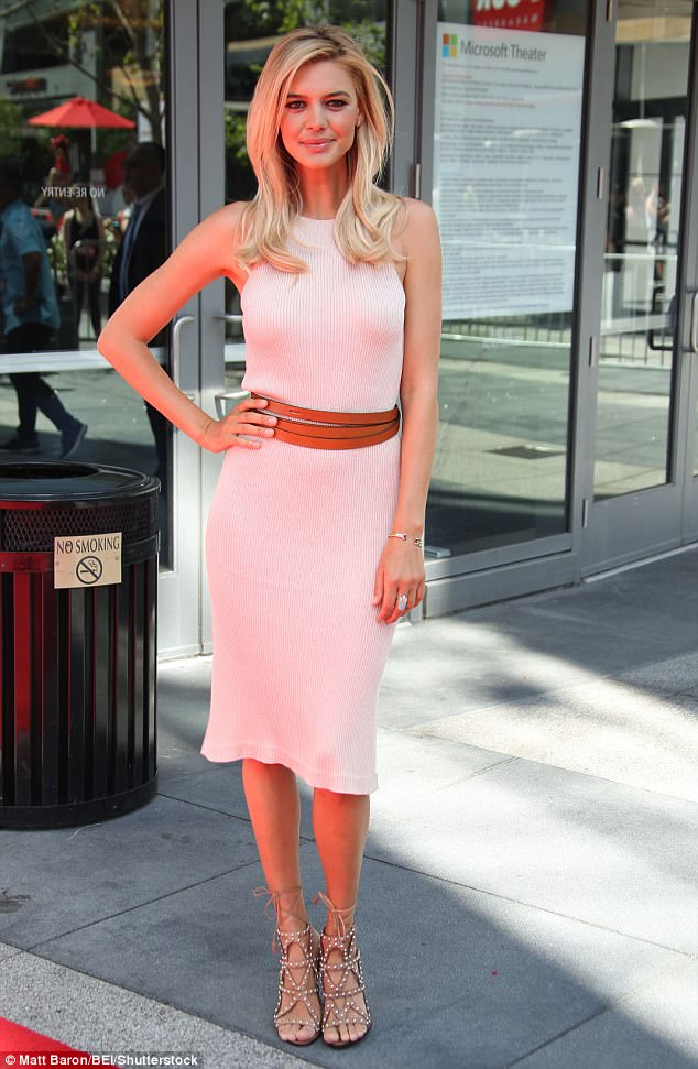 Blushing beauty! Kelly was a vision in pink on Saturday as she helped to host the first Baywatch Slowmo Marathon in LA