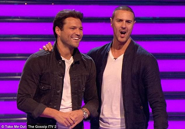 Dream job: Mark is returning to co-host the ninth series of Take Me Out: The Gossip this Sunday (pictured with presenter Paddy McGuinness)