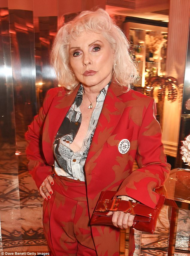 Crippled by her beauty: Blondie's Debbie Harry revealed that she once removed all the mirrors from her home and refused to look at her reflection because 'the world made such a big deal' of her looks