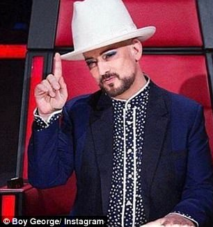 Going head to head! Speaking to Today Extra on Thursday, new Voice coach Joe Jonas (left) admitted he's 'probably going to butt heads' with Boy George (right)
