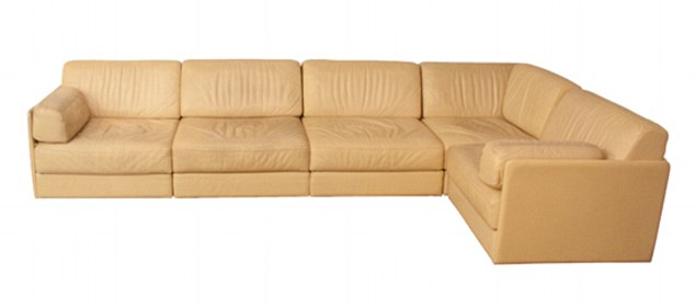 This 1960s De Sede Modular Sofa System in soft cream leather costs £4,600