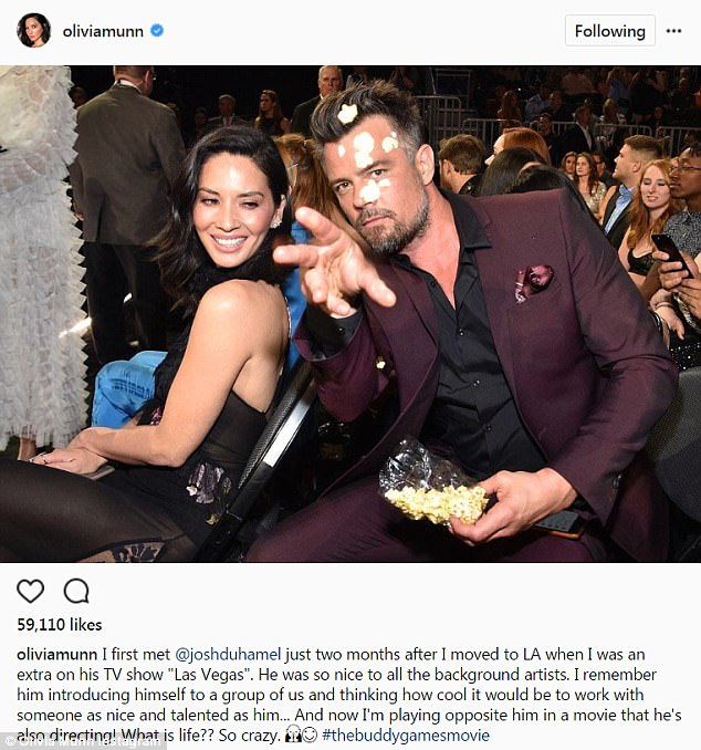 Linked: Josh has been linked to his The Buddy Games co-star Olivia Munn; she posted this glowing tribute to him back in August
