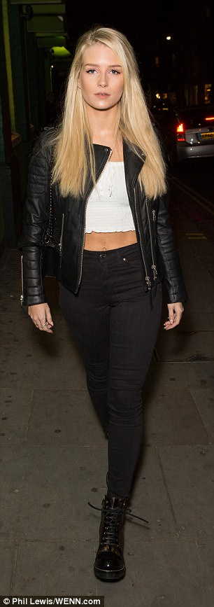 Loving life:Georgia Toffolo and Lottie Moss looked chic as they attended a singles social party of the dating app Huggle in London on Friday night