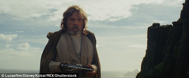 Battle:Rey (Daisy Ridley) tries to convince Luke Skywalker (Mark Hamill, above) to join the Resistance and bring hope to the rebels against Snoke's villainous rule.