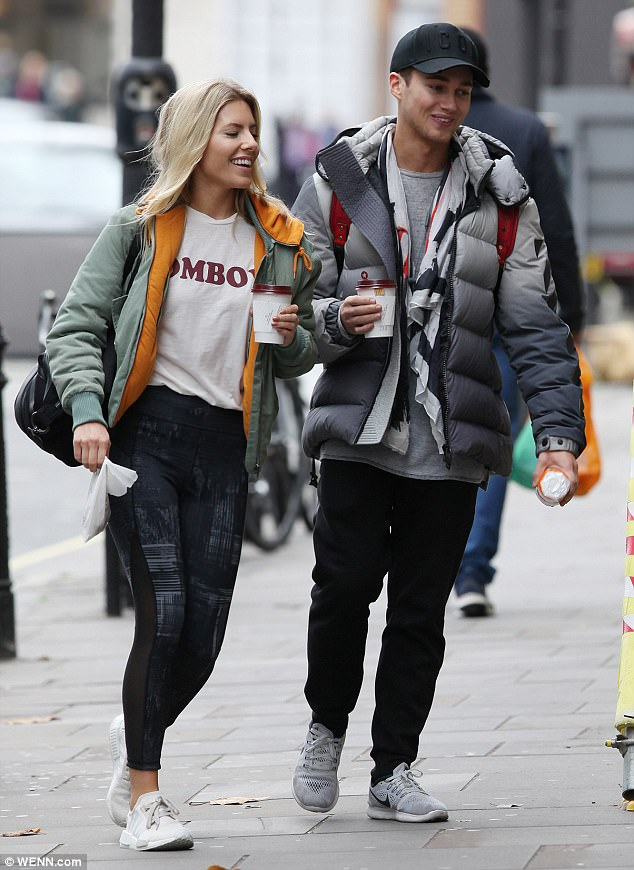 Looking close:Mollie King and AJ Pritchard did little to dispel the romance rumours on Tuesday, as they looked cosy while heading to rehearsals in London