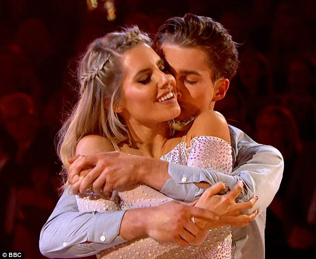 Tight embrace:There have been rumors circulating about AJ, 22, and dance partner Mollie, 30 developing more than just a 'friendship' on Strictly