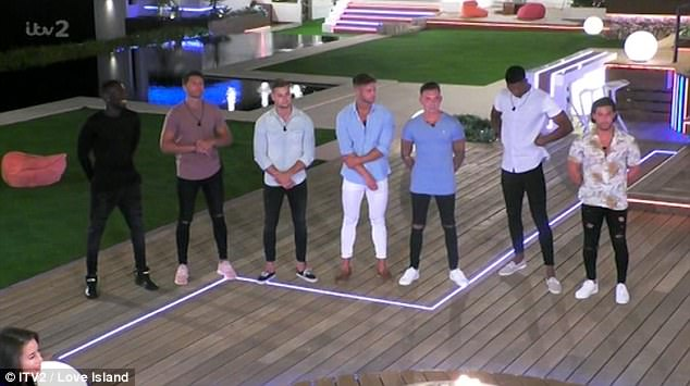 Here come the boys: Other speeches acting to captivate viewers came when Chris admitted his love to an admittedly dismayed Olivia earlier in the episode as she continued to debate between him and hunky wildcard Mike Thalassitis