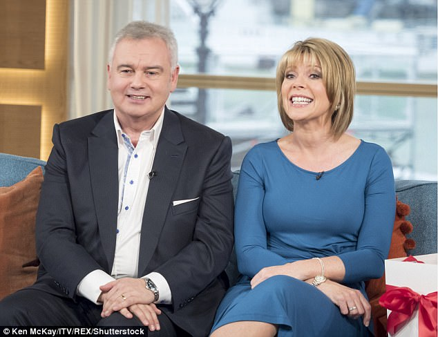In the hot seat: Eamonn Holmes and Ruth Langsford will return to TV show This Morning from Monday, July 17, and will be taking the reigns while Phil and Holly take seven weeks off, returning in September