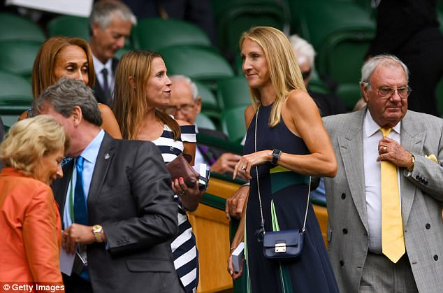 Taking a pew: Paula enjoyed one of the best seats in the house in the Royal Box