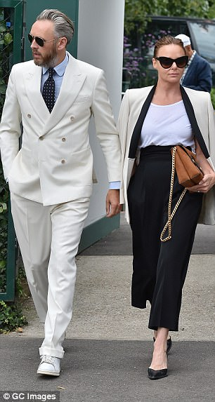 Stylish duo: She was joined by her husband of fourteen years Alistair Willis