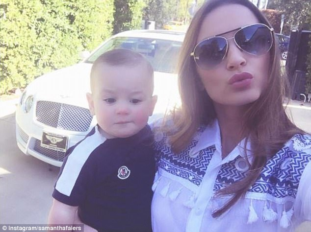 Difficult: Talking to MailOnline last month however, the beauty admitted life as a working parent can be difficult as she feels 'constantly guilty' for leaving baby Paul at home