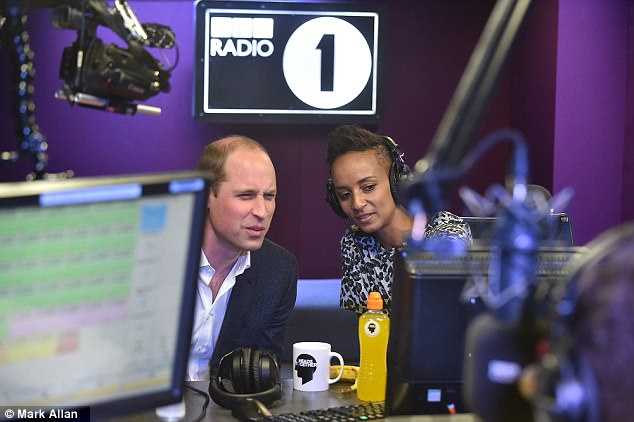 William kept quiet about having a family WhatsApp group, but said that he could give his grandmother a birthday shout out on the radio