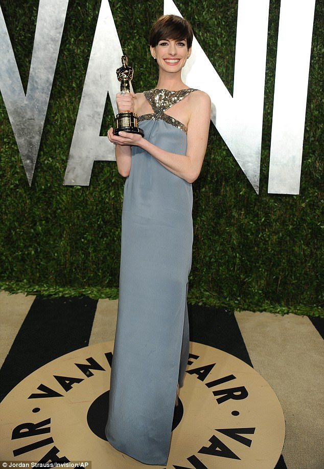 Oscar winner: Anne went on to win the Best Supporting Actress Oscar for her portrayal of Fantine in Les Miserables in 2013