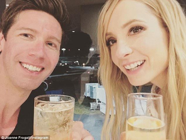 Cute couple:Joanne and IT director James. who tied the knot at a private ceremony in October 2012, recently moved from Buckinghamshire to LA so that she can pursue career opportunities