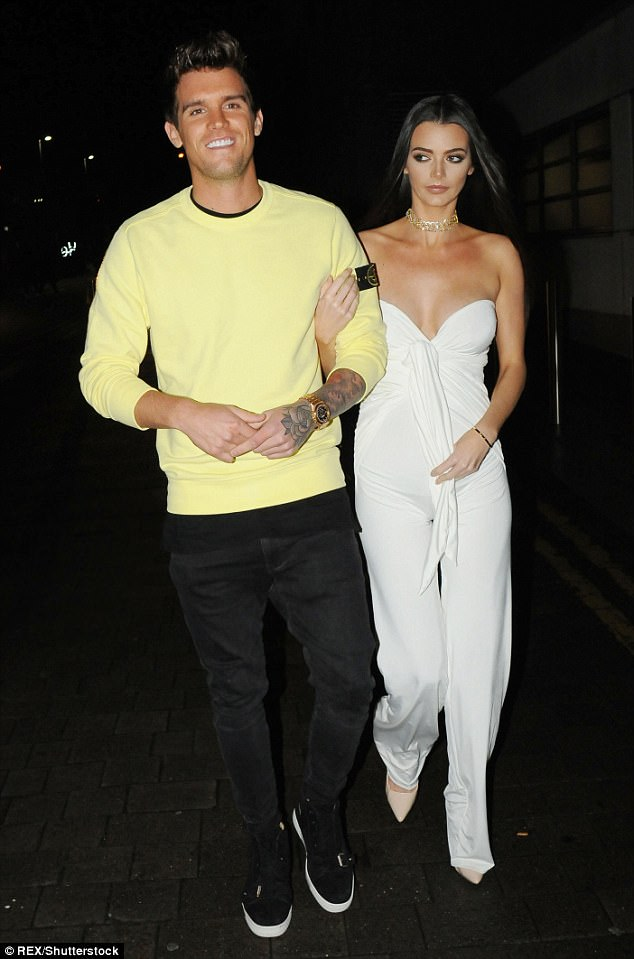 Proud parents-to-be: Gaz Beadle and Emma have confirmed that they are set to welcome a boy, despite his cryptic hints that they would welcome a little girl
