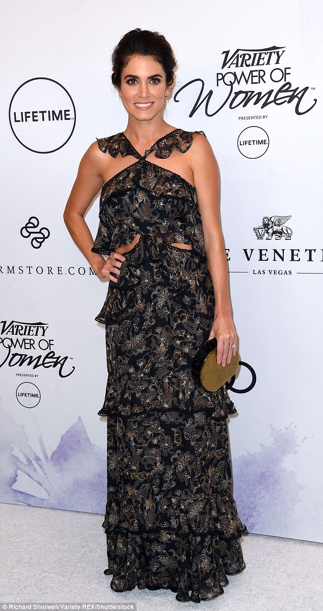 New mom! Nikki Reed looked stunning in a flirty ruffled dress at Variety's Power of Women event at the Beverly Wilshire Four Seasons Hotel on Friday afternoon