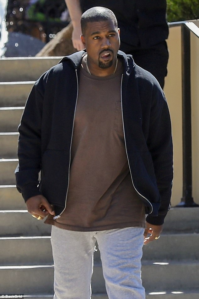 Get-fit mission: It's reported Kanye has a love for indulging in comfort food, such as mac and cheese and fried chicken, and is known for ordering take out meals to the studio when he is working