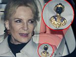 Princess Michael of Kent found herself under fire yesterday after she wore a 'blackamoor' brooch to the Queen's Christmas lunch at Buckingham Palace, attended by Prince Harry's mixed race fiancée Meghan Markle