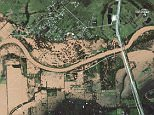 This image, taken on August 30 by DigitalGlobe's WorldView-2 satellite, shows the extensive flooding in Brookshire, Texas