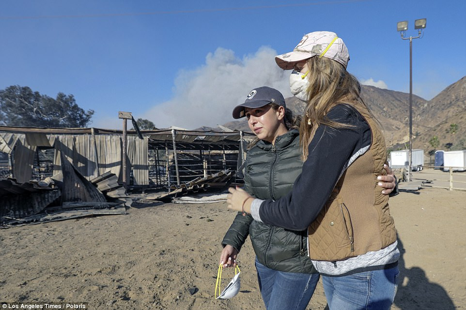 Virginia Padilla, who runs the ranch with her family, fought back tears on Wednesday as she returned to the site