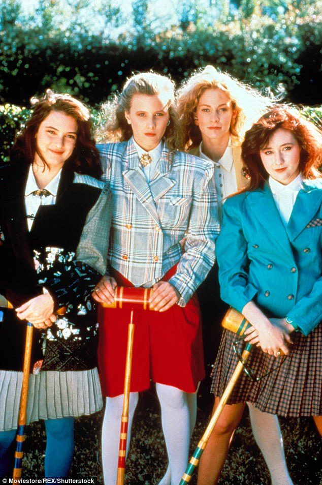 Original group: And the cancer hasn't slowed down the actress one bit, as she's been busy filming the reboot of her 1988 movie Heathers