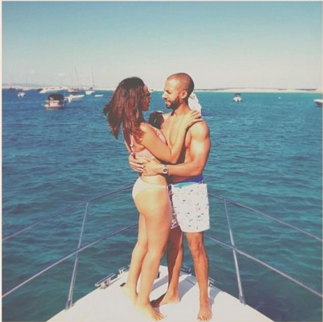 Bliss: Marvin and Rochelle regularly express their love on Instagram, posting this throwback snap of the pair on their Ibizan getaway