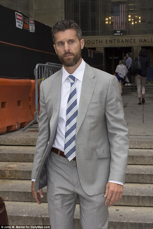 Sad (alleged) stalker:Jason was charged with two additional counts of stalking in June during an appearance in Manhattan Criminal Court (above)