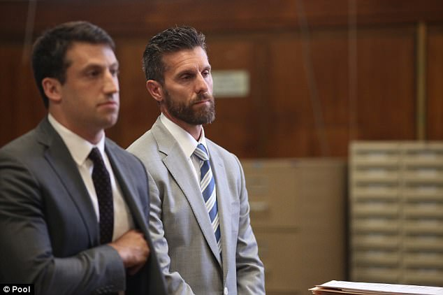 No go:Back in March, Hoppy was offered a deal that would have resulted in two of the three charges against him being dropped if he pleaded guilty to a harassment violation (Hoppy and lawyer Alex Spiro above)