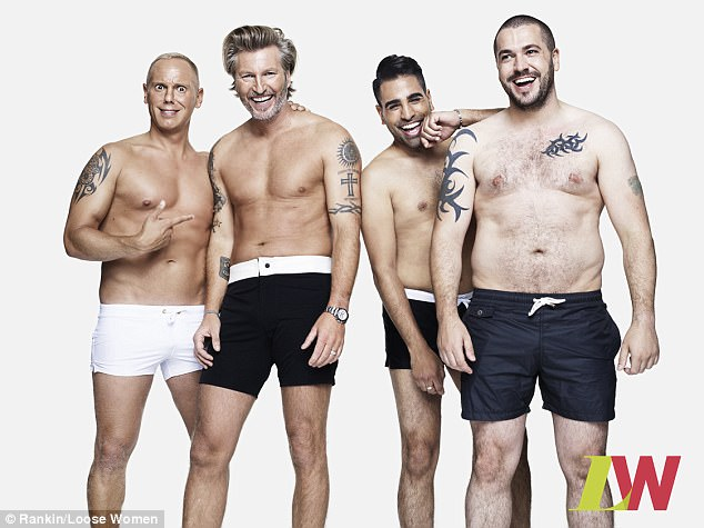 A survey conducted by Loose Women found that 73 per cent of men said they don't talk to anyone about how they feel about their body, with 50 per cent  worrying about their weight
