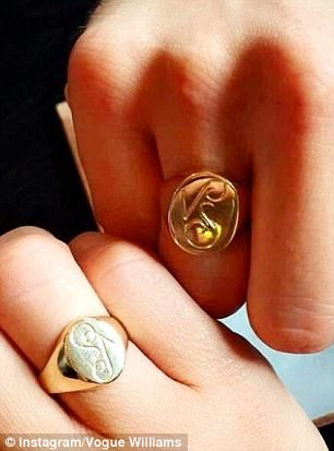 The matching rings Vogue had made for Spencer's birthday