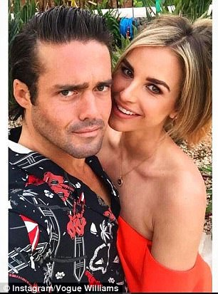 A loved-up selfie of Vogue and Spencer