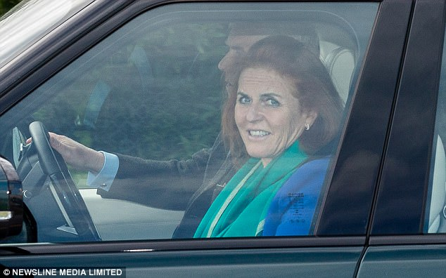 Prince Andrew drove the Duchess of York at the airport with daughter, Princess Eugenie, when they arrived in Scotland