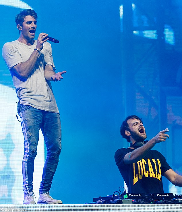 First time on the list! The Chainsmokers (above in July) earned $38million, bolstered by the chart-topping success of hits Closer with Halsey and Something Just Like This with Coldplay