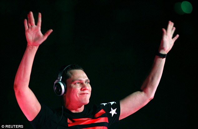 Runner up:Tiesto (above in 2013) earned $39million, making him the second highest earner