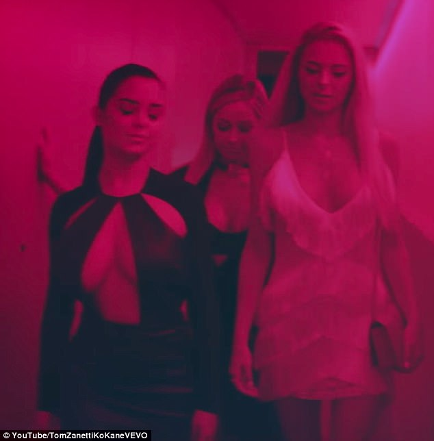 Taking the plunge: Demi, who rose to fame when she was chosen to be part of the Taz's Angels at its peak in 2015, seemed to be getting into the party spirit