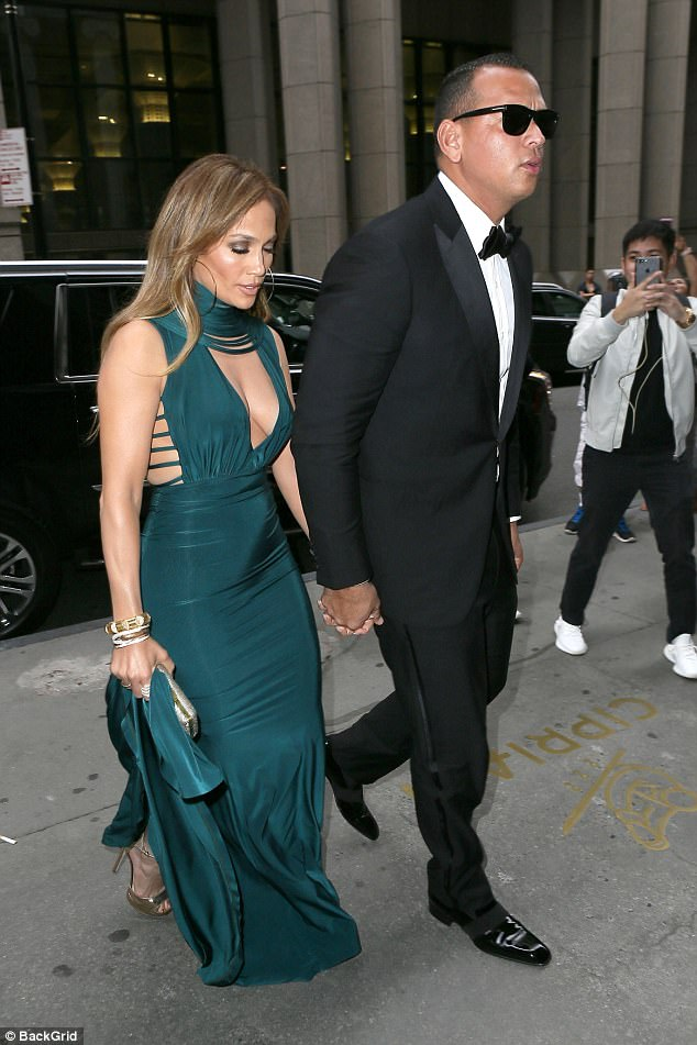 Hot couple: Over the weekend, glamorous Jennifer and boyfriend Alex Rodriguez, 42, attended a friend's wedding in New York City