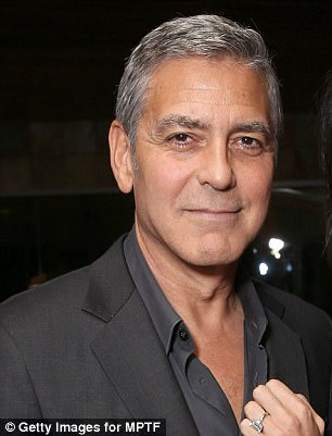 Swoony Clooney: George looked more tired than his usual self (pictured in 2016)