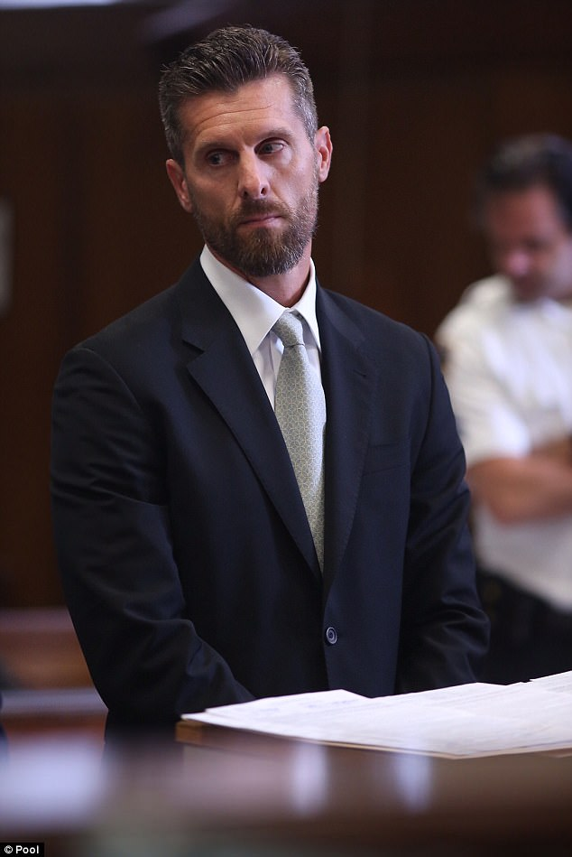 Standing trial:Jason Hoppy appeared in Manhattan Criminal Court for his trial on Tuesday to face five counts of stalking charges