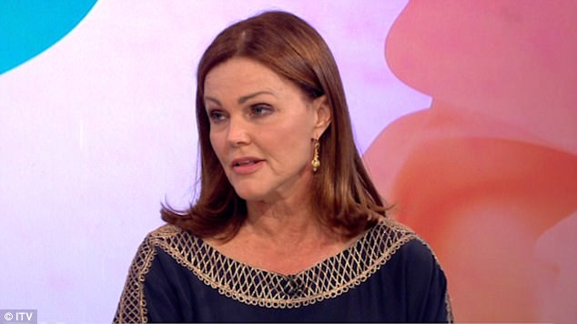 Candid: Belinda Carlisle, 58, spoke of her battle with drug addiction and admitted she had taken her son James Mason to rehab with her after learning it could be 'genetic'