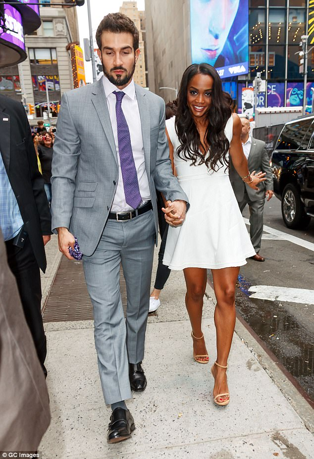 Head over heels! Lindsay and her new fiance Abasolo couldn't have looked anymore in love as they stepped out for one of the first times in public as a couple on Tuesday morning