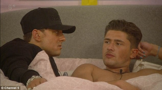 Advice:After the pair were seen getting cosy once again, Paul Danan, 39, and Sam Thompson, 25, took Jordan to one side to warn him with claims that her feelings aren't genuine