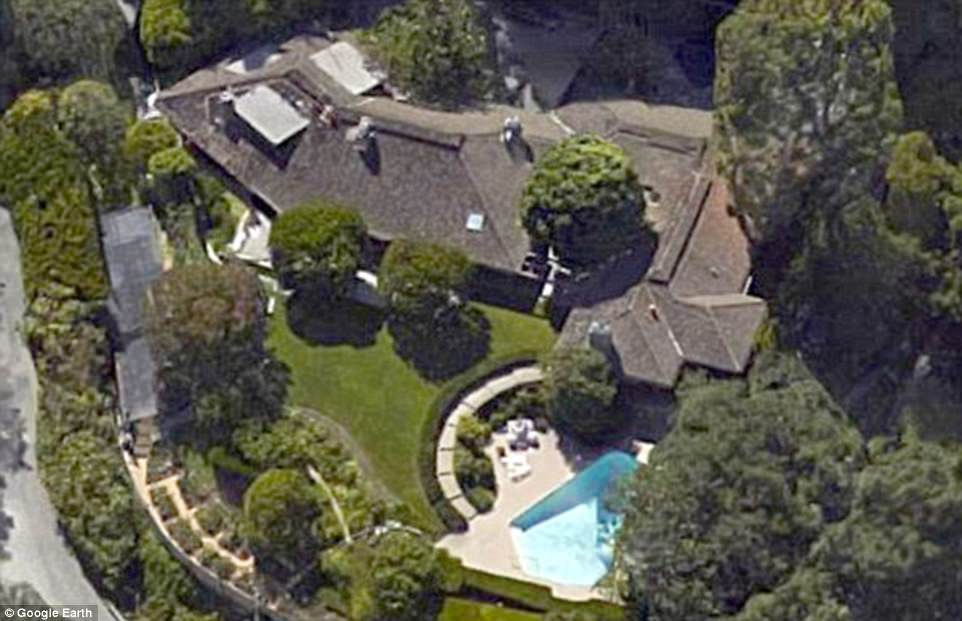 There are five properties on the entire estate, including the longtime residence of Ronald and Nancy Reagan (above). Perenchio bought the former first couple's property for $15million in June 2016