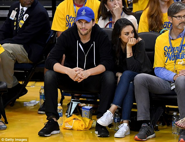 Love birds: Mila has been married to her That '70s Show co-star Ashton Kutcher, 39, since 2015