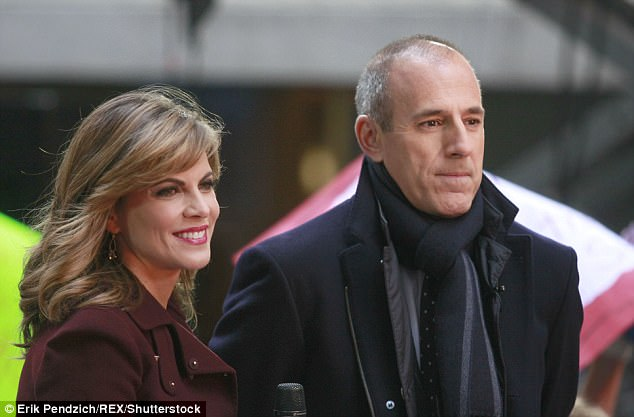 Denials: Both Morales and Lauer were forced to deny having an affair in 2016