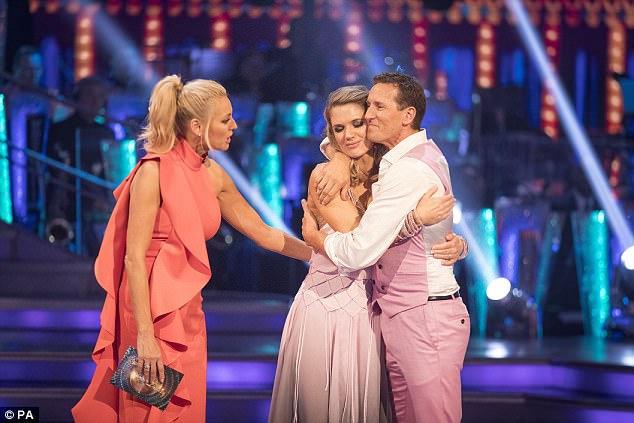 'I gave it my best': GMB's Charlotte Hawkins was the third contestant to be eliminated from Strictly Come Dancing in Sunday's results show after a tense dance-off