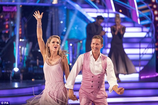 Heading home: Charlotte failed to impress the judges in dance-off, after performing her jive to Bruno Mars' Marry You