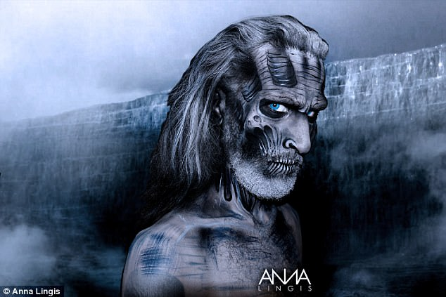 Winter is coming! Anna created a Game Of Thrones themed look with this Night King makeup