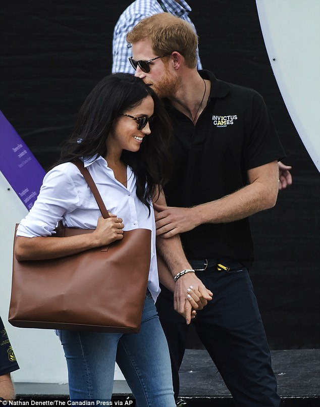 Romance: Meghan Markle is said to have quit her highly successful role on Suits amid claims she will announce her engagement to Prince Harry before Christmas, reports The Daily Star Sunday