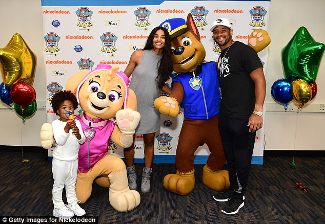 Family time: Ciarawas also joined by her husband NFL quarterback Russell Wilson, alongside her son Future Jr