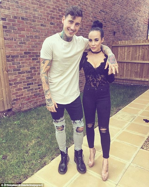 Happier times:Stephanie Davis has spoken for the first time since her arrest for assault, as she revealed details of her toxic romance with Jeremy McConnell and the terrifying moment their son Caben-Albi was rushed to hospital